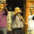 Michel Jonasz répètent avec les candidats de Sing Off dans Sing Off, samedi 15 octobre 2011 sur France 2