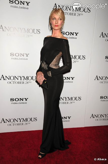 Joely Richardson, le 20 octobre 2011 à New York pour l'avant-première d'Anonymous.