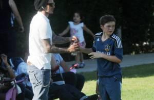 David Beckham totalement fan de ses fils, futurs footballeurs... Harper aussi !