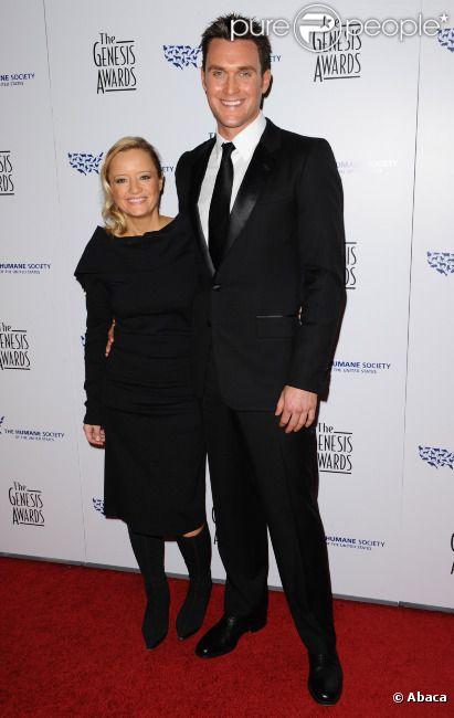 Owain Yeoman et Lucy Davis à Los Angeles en mars 2010