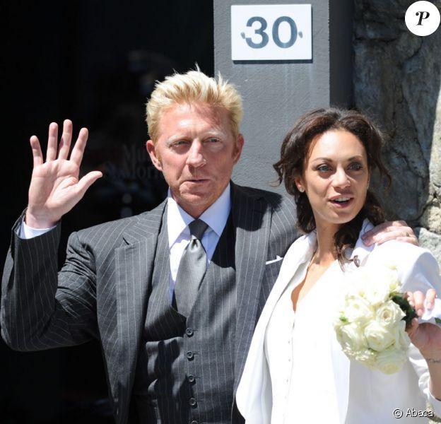 Boris Becker et Lilly lors de leur mariage à St-Moritz en juin 2009