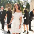 La superbe Leighton Meester, de passage à Paris pour assister au défilé Christian Dior. Le 30 septembre 2011.