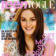 Février 2009 : l'actrice Leighton Meester, star de la série Gossip Girl, pose pour Teen Vogue.