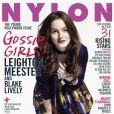 La star de Gossip Girl Leighton Meester, en Une du magazine Nylon. Mai 2008.