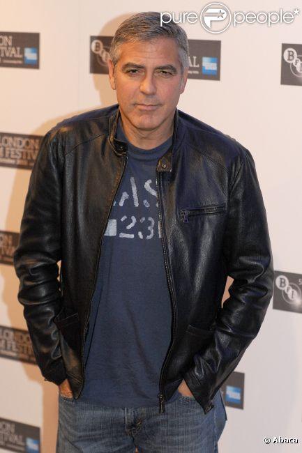 George Clooney le 19 octobre 2011 à Londres.