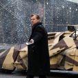 Christopher Nolan sur le tournage de The Dark Knight Rises, à New York le 5 novembre 2011