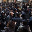 Tournage de The Dark Knight Rises, à New York le 5 novembre 2011