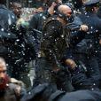 Tom Hardy sur le tournage de The Dark Knight Rises, à New York le 5 novembre 2011
