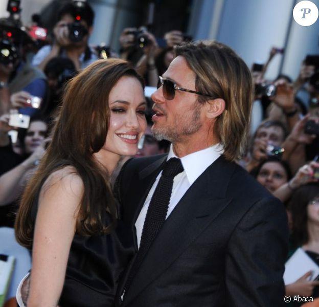 Angelina Jolie et Brad Pitt à Toronto en septembre 2011.