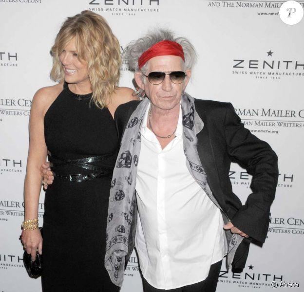 Keith Richards et Patti Hansen au 3e gala annuel du Norman Mailer Center, à New York, le 8 novembre 2011.