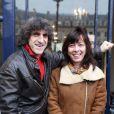 Shirley et Dino lors de la cérémonie dévoilant une plaque en hommage à Henri Salvador à Paris le 9 novembre 2011.