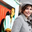 Liane Foly lors de la cérémonie dévoilant une plaque en hommage à Henri Salvador à Paris le 9 novembre 2011.