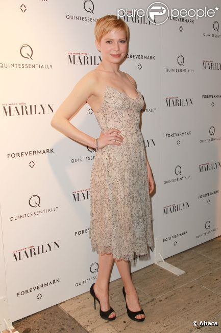 Michelle Williams pour My week with Marilyn, le 13 novembre 2011 à New York.