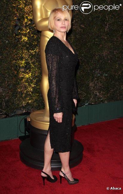 Ellen Barkin au dîner des Oscars à Los Angeles, le 12 ...
