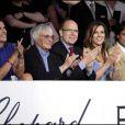 Slavica et son mari Bernie Ecclestone, le prince Albert II de Monaco, Elizabeth Hurley et son mari Arun Nayar