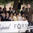 Slavica et son mari Bernie Ecclestone, le prince Albert II de Monaco, Elizabeth Hurley et son mari Arun Nayar, David Furnish et le pilote David Coulthard