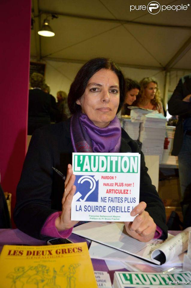 Fran oise bettencourt meyers au salon du livre de toulon - Salon du livre toulon ...
