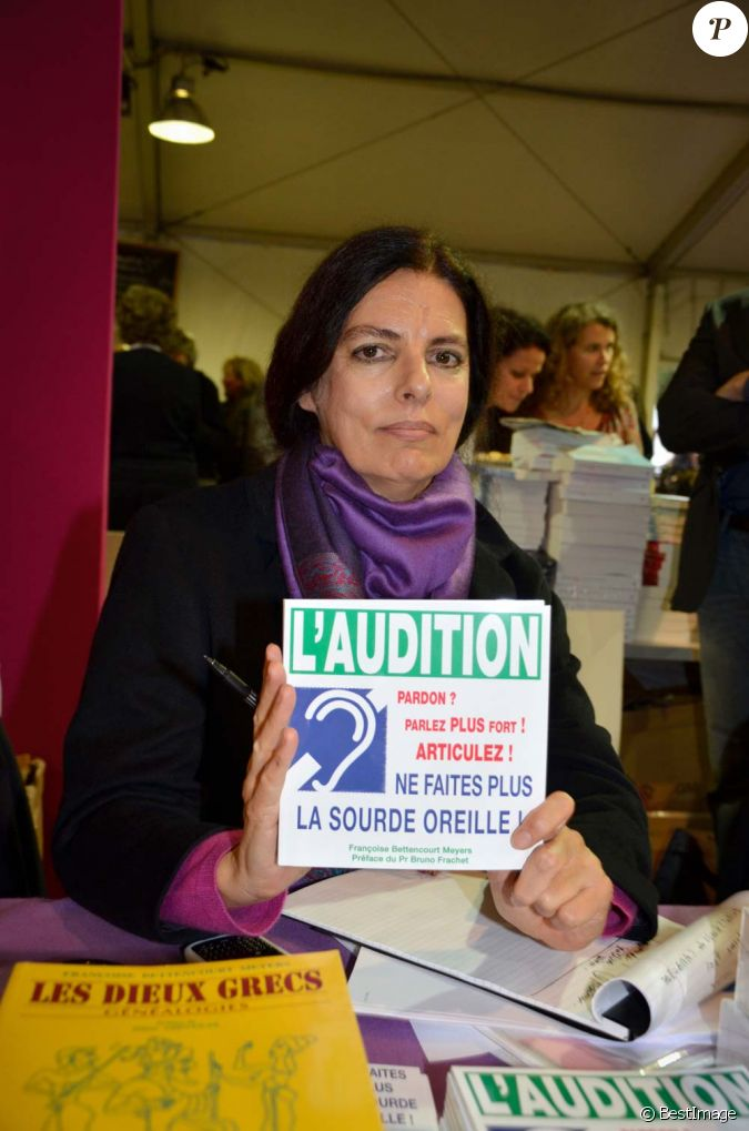 fran oise bettencourt meyers au salon du livre de toulon