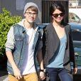 Justin Bieber et Selena Gomez, à Los Angeles, le 21 novembre 2011.