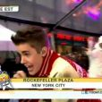 Justin Bieber au  Today Show  sur NBC, en direct du Rockefeller Center à New York, le 24 novembre 2011.
