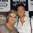 Katrina Patchett et Maxime Dereymez lors du 20e anniversaire du Hard Rock Cafe à Paris le 24 novembre 2011