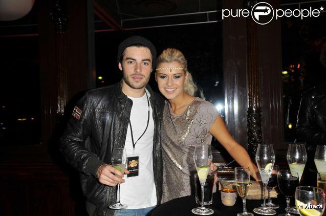 Katrina Patchett et Valentin D'Hoore (Koh Lanta) lors du 20e anniversaire du Hard Rock Cafe à Paris le 24 novembre 2011