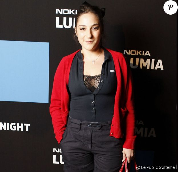 Marilou Berry à la soirée Nokia, organisée le 24 novembre 2011, à Paris.