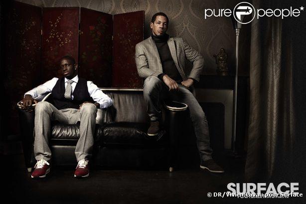 JoeyStarr et Mamadou Sakho pose pour Surface le 3 décembre en kiosque