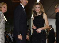 Letizia d'Espagne : Sublime en robe du soir au bras de son Felipe