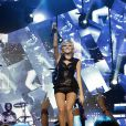Rihanna en concert à l'O2 Arena à Londres le 3 décembre 2011 pour le Jingle Ball Bell