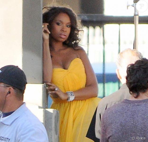 Jennifer Hudson, en plein shooting pour le magazine Vanity Fair. Los Angeles, le 7 décembre 2011.
