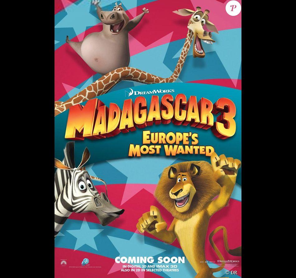 L'affiche du film Madagascar 3 - Purepeople