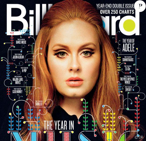 Adele - en couverture du magazine Billboard - décembre 2011.