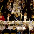 La princesse Victoria de Suède lors de la soirée de remise des Nobel de médecine, littérature, physique, chimie et économie à Stockholm le 10 décembre 2011.