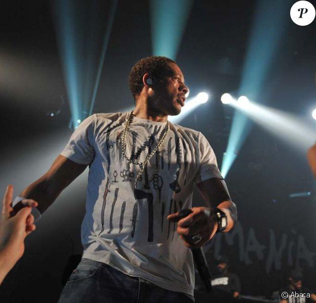 JoeyStarr en concert au Bataclan, à Paris, le 12 décembre 2011.