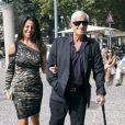 Barbara Gandolfi et Jean-Paul Belmondo en septembre 2011 à Milan