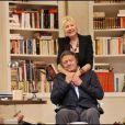 Patrick Guillemin lors du filage de la pièce de théâtre Le Technicien au théâtre du palais royal à Paris en septembre 2010. Le comédien est décédé en août 2011.