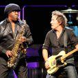 Clarence Clemons en concert avec Bruce Springsteen en octobre 2007 à Hartford, USA. Le saxophoniste est décédé le 18 juin 2011.