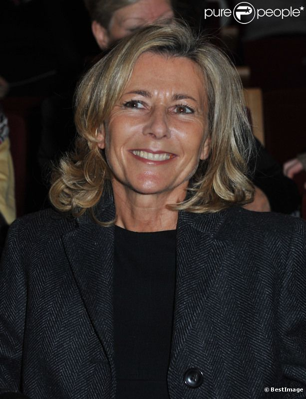 Claire Chazal lors de l'inauguration du théâtre éphémère de la Comédie Française à Paris, le 9 janvier 2012