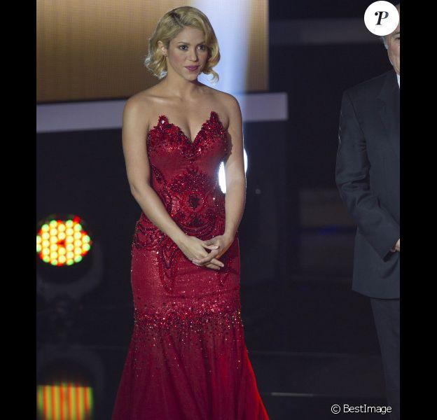 Shakira le 9 janvier 2012 à Zurich lors de la cérémonie du Ballon d'Or