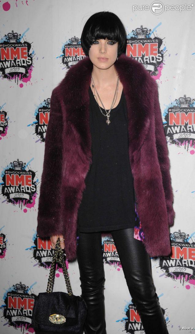 Agyness Deyn à Londres, le 24 février 2010.