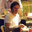 David Beckham et ses fils à Los Angeles, le 13 janvier 2012.