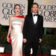 Angelina Jolie et Brad Pitt lors des Golden Globes le 15 janvier 2012 à Beverly Hills