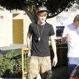 Justin Bieber à Los Angeles, le 5 janvier 2012