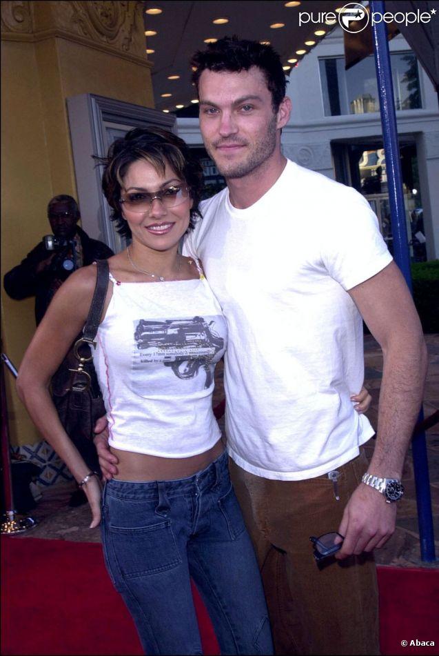 Brian Austin Green et son ex Vanessa Marcil en 2001