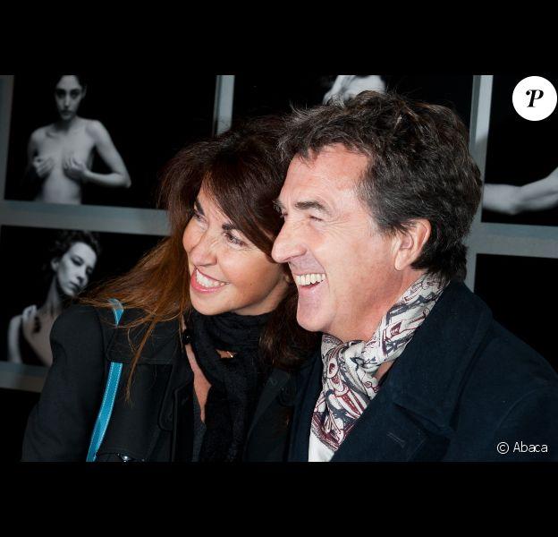 François Cluzet et sa femme Narjiss lors de la soirée des Révélations à Paris le 16 janvier 2012