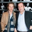Nicolas Bridet et Gilles Legrand lors de la soirée des Révélations à Paris le 16 janvier 2012