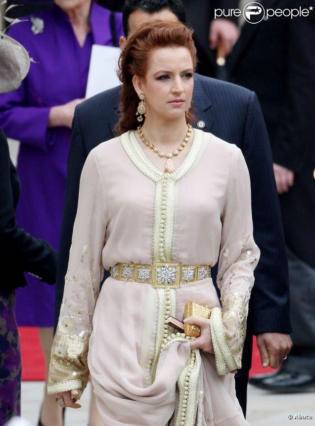 La princesse Lalla Salma du Maroc (photo : au mariage de William et