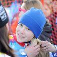 Clara Direz, victorieuse dans le slalom géant aux Jeux Olympiques d'Hiver  de la Jeunesse d'Innsbruck, le 18 janvier 2012.