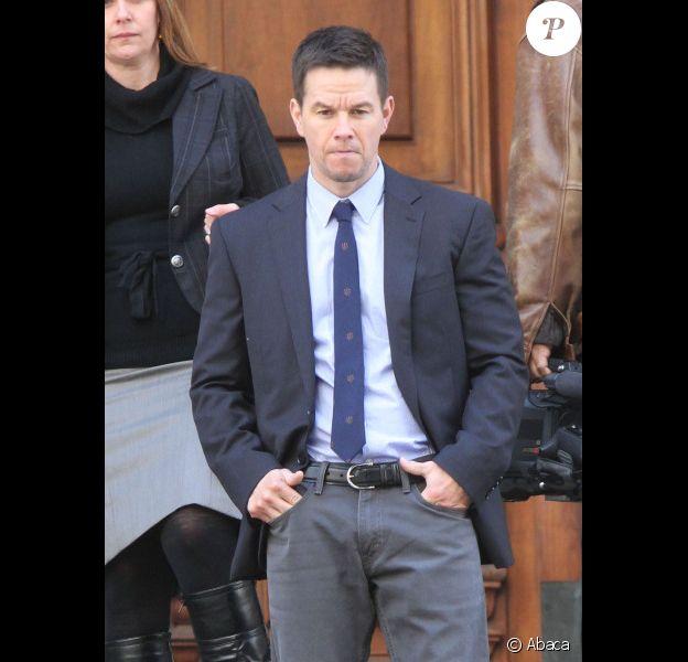 Mark Wahlberg sur le tournage de Broken City le 20 novembre 2011 à New York